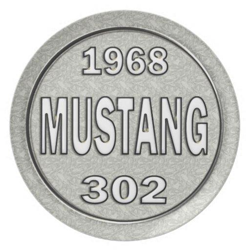 Mustango 1968 302 platos de comidas