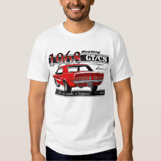 Mustango 1968 de GTCS - el doble echó a un lado Remeras