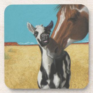 Mustango - caballos salvajes posavasos de bebida