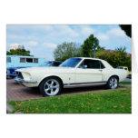 Mustango clásico de Ford Tarjetón