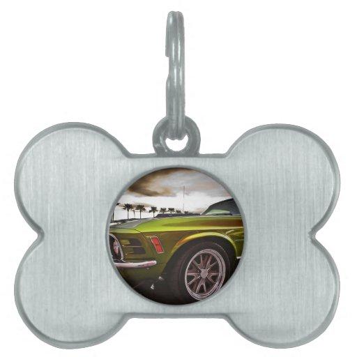 Mustango de 70 Mach 1 Placa Mascota
