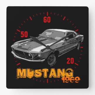 Mustango de Ford Reloj Cuadrado
