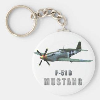 Mustango de P-51 B Llavero Redondo Tipo Pin