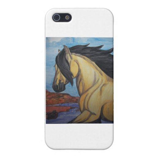 Mustango del ante en el barranco iPhone 5 cárcasas