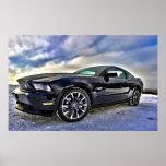 Mustango del coche del músculo del automóvil poster
