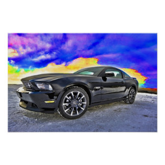 Mustango del coche del músculo del automóvil póster