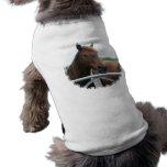 Mustango en la camisa del mascota de la cerca camiseta de mascota