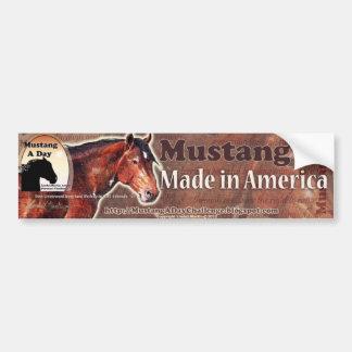 Mustango: Hecho en el Greasewood de Davy del ~ de  Pegatina De Parachoque