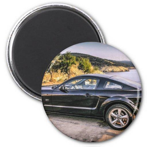 Mustango negro GT Imán De Frigorifico