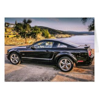 Mustango negro GT Felicitación