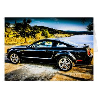 Mustango negro GT Tarjeton