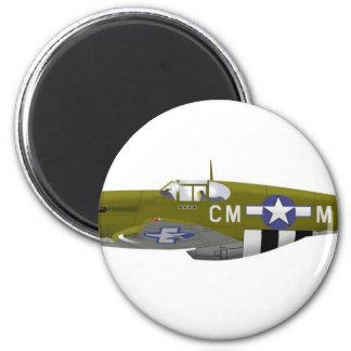 Mustango norteamericano de P-51B Imán Redondo 5 Cm