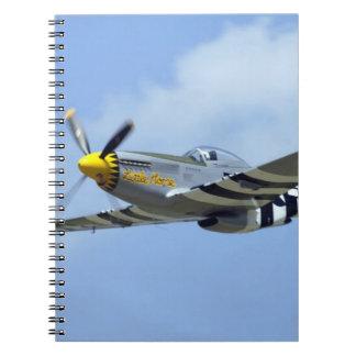 Mustango norteamericano de P-51D, pequeño caballo Libro De Apuntes