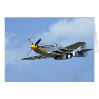 Mustango norteamericano de P-51D, pequeño caballo Tarjeta De Felicitación