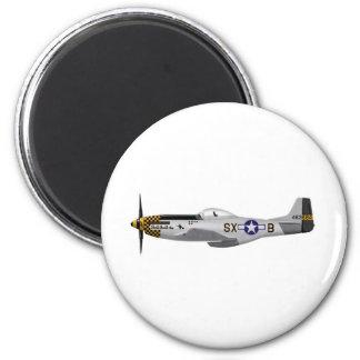"""Mustango norteamericano """"problema dos de P-51D del Imán Redondo 5 Cm"""