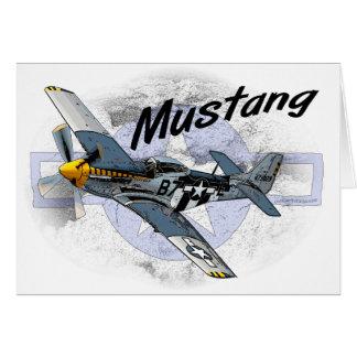Mustango P51 Tarjeta De Felicitación