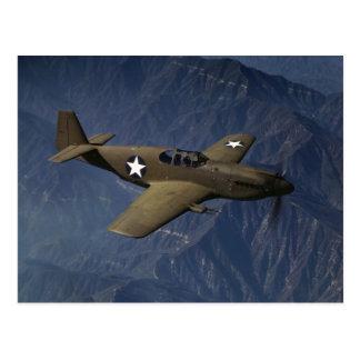 Mustango P-51 en vuelo, 1942 Postal