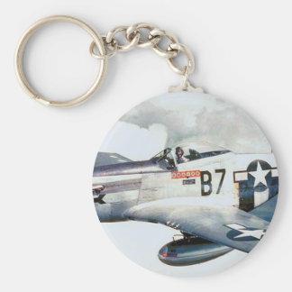 MUSTANGO P-51 LLAVERO REDONDO TIPO PIN