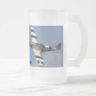MUSTANGO P-51 TAZA DE CRISTAL