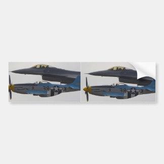 MUSTANGO P-51 Y F-16 EAGLE PEGATINA PARA AUTO