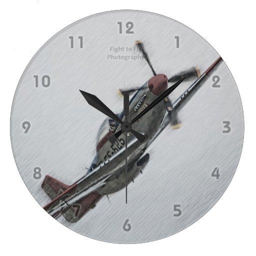 Mustango rojo - reloj