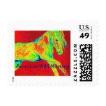 Mustango salvaje americano sello