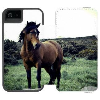 Mustango salvaje funda cartera para iPhone 5 watson
