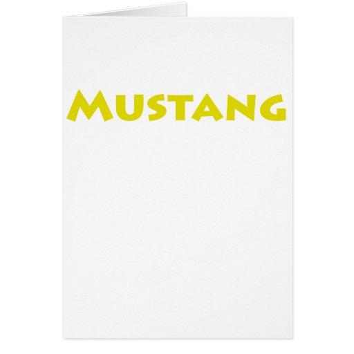 Mustango Tarjeta De Felicitación