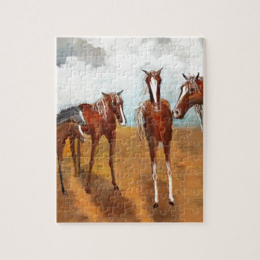 Mustangos banales rompecabeza con fotos