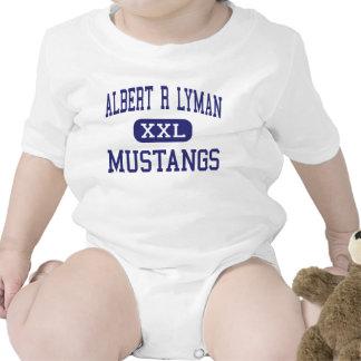 Mustangos Blanding medio Utah de Albert R Lyman Traje De Bebé
