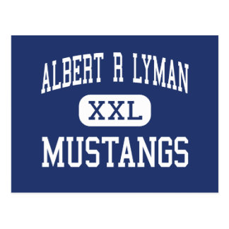 Mustangos Blanding medio Utah de Albert R Lyman Tarjeta Postal