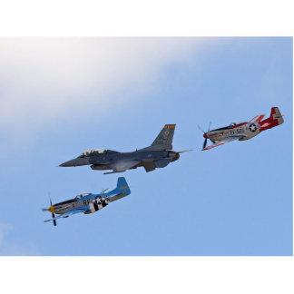 Mustangos de los jets P 51 de Filghts de la herenc Fotoescultura Vertical