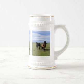 Mustangos de Navajo Jarra De Cerveza
