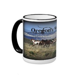 ¡Mustangos de Oregon en la TAZA lateral salvaje de