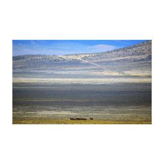 Mustangos del valle de la mota impresion en lona