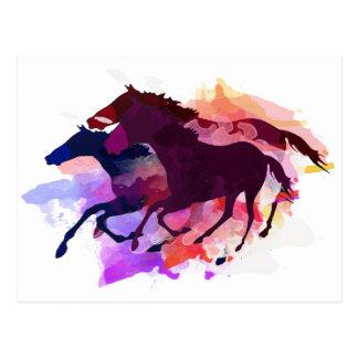 Mustangos - el manojo salvaje tarjetas postales