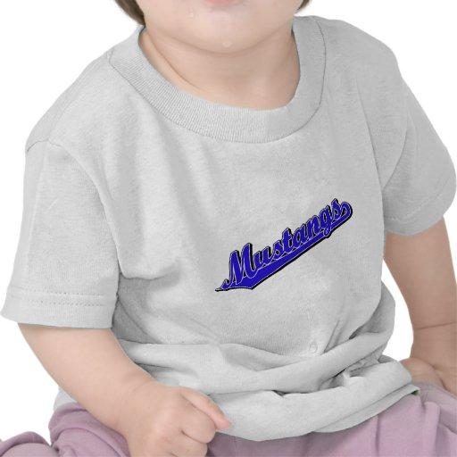 Mustangos en azul camiseta