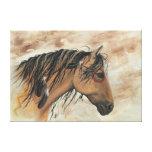 Mustangos majestuosos por la impresión de la lona  impresión de lienzo