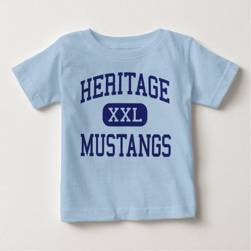 Mustangos Maryville medio Tennessee de la herencia Playera De Bebé