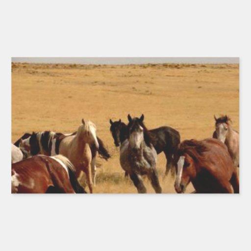 Mustangos Pegatina Rectangular