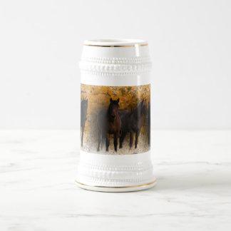 Mustangos salvajes Stein Jarra De Cerveza