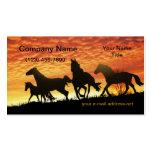 Mustangos salvajes plantillas de tarjetas personales