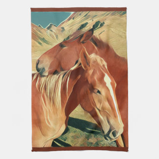 Mustangos salvajes toallas