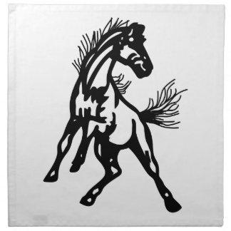 Mustangos Servilleta Imprimida