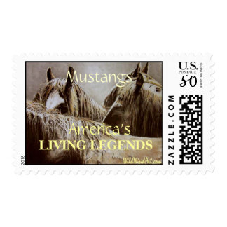 Mustangs, America's LIVING LEGENDS Postage Stamp