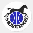 Mustangs Basketball Stickers