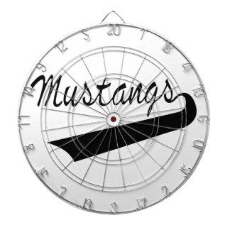 Mustangs Dartboard With Darts