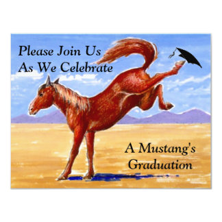 MUSTANGS GRADUATION INVITATION ~EZ2 CUSTOMIZE