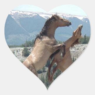 Mustangs Heart Sticker