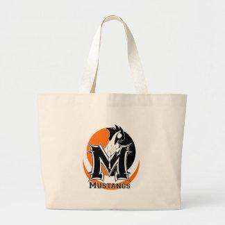 MUSTANGS Logo Large Tote Bag